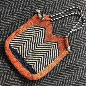 Handbags - Geometric Wicker Tote Bag